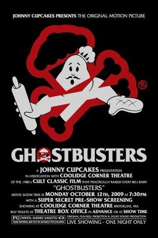 Johnny+Cupcakes+Ghostbusters+Screening+on+Monday,+October+12,+2009+at+the+Coolidge+Corner+Theater+Promoitional+Poster